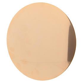 Calice et patène 20 cm en laiton doré brillant s6