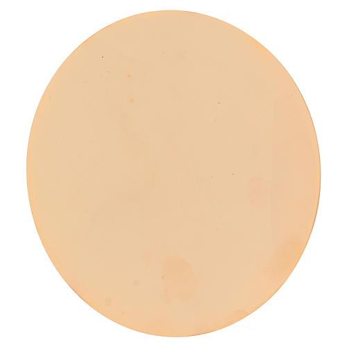 Calice et patène 20 cm en laiton doré brillant 5