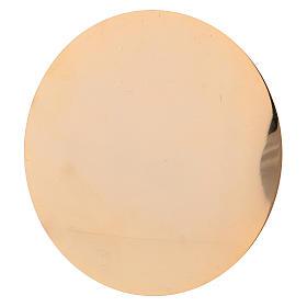 Cáliz y Patena de latón dorado con motivo tallado 20 cm s6