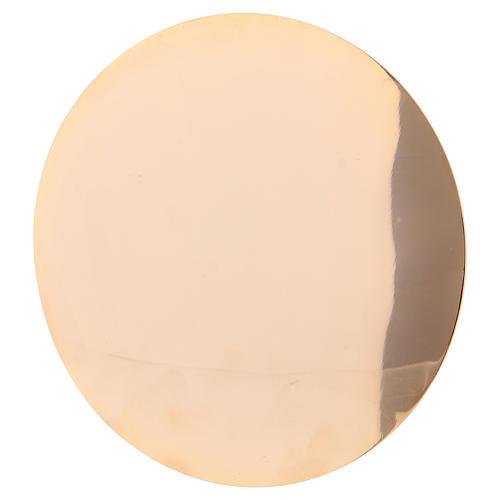 Calice e Patena in ottone dorato decorazioni vite e uva h. 22 cm 5