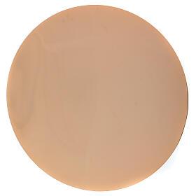 Paten in golden brass with a diameter of 14 cm s1