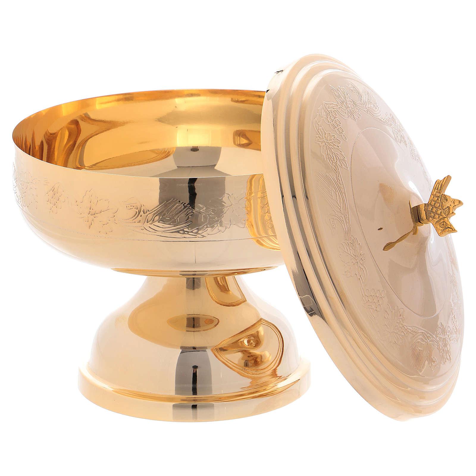 Pisside mod. Ciborium con decori ottone dorato h 17 cm 4