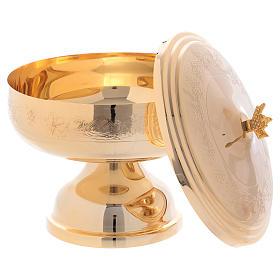 Pisside mod. Ciborium con decori ottone dorato h 17 cm s2