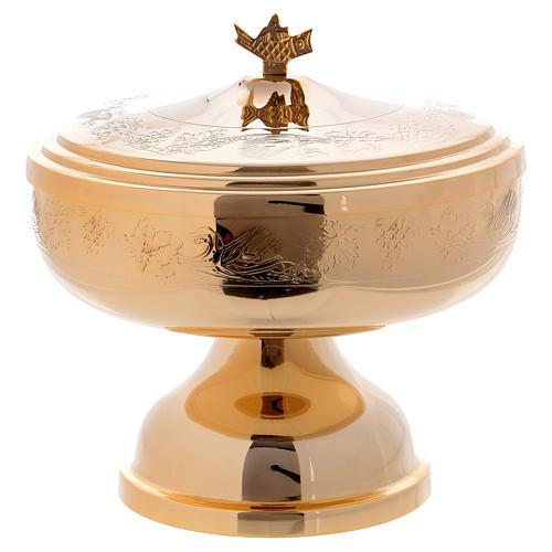 Pisside mod. Ciborium con decori ottone dorato h 17 cm 1