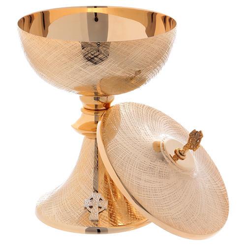 Pisside mod. ciborium decorata ottone dorato 27 cm 4