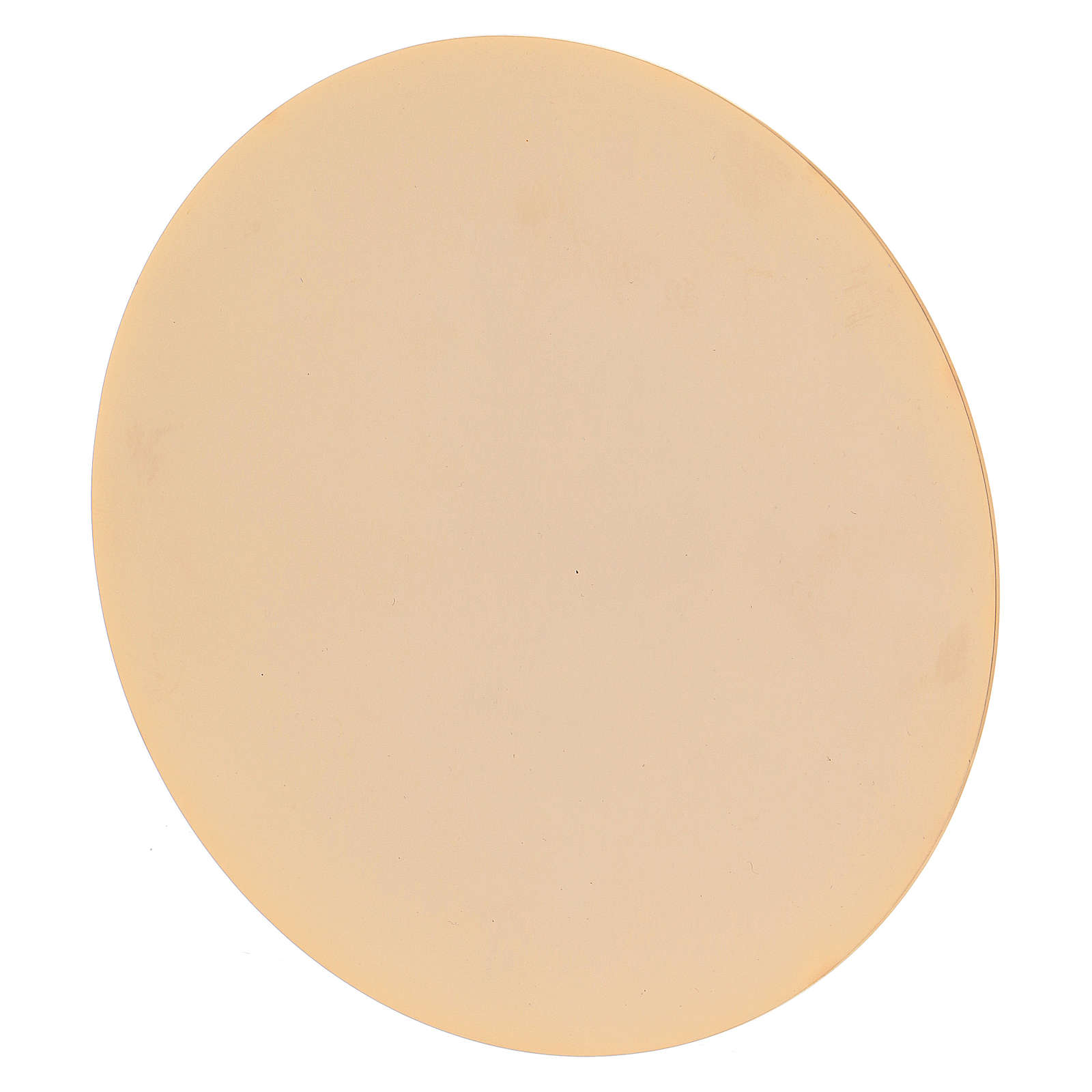 Calice style baroque laiton doré 27 cm avec patène 4