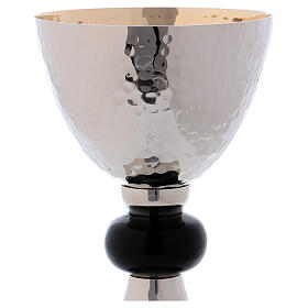 Silver chalice with black knot and golden paten s2