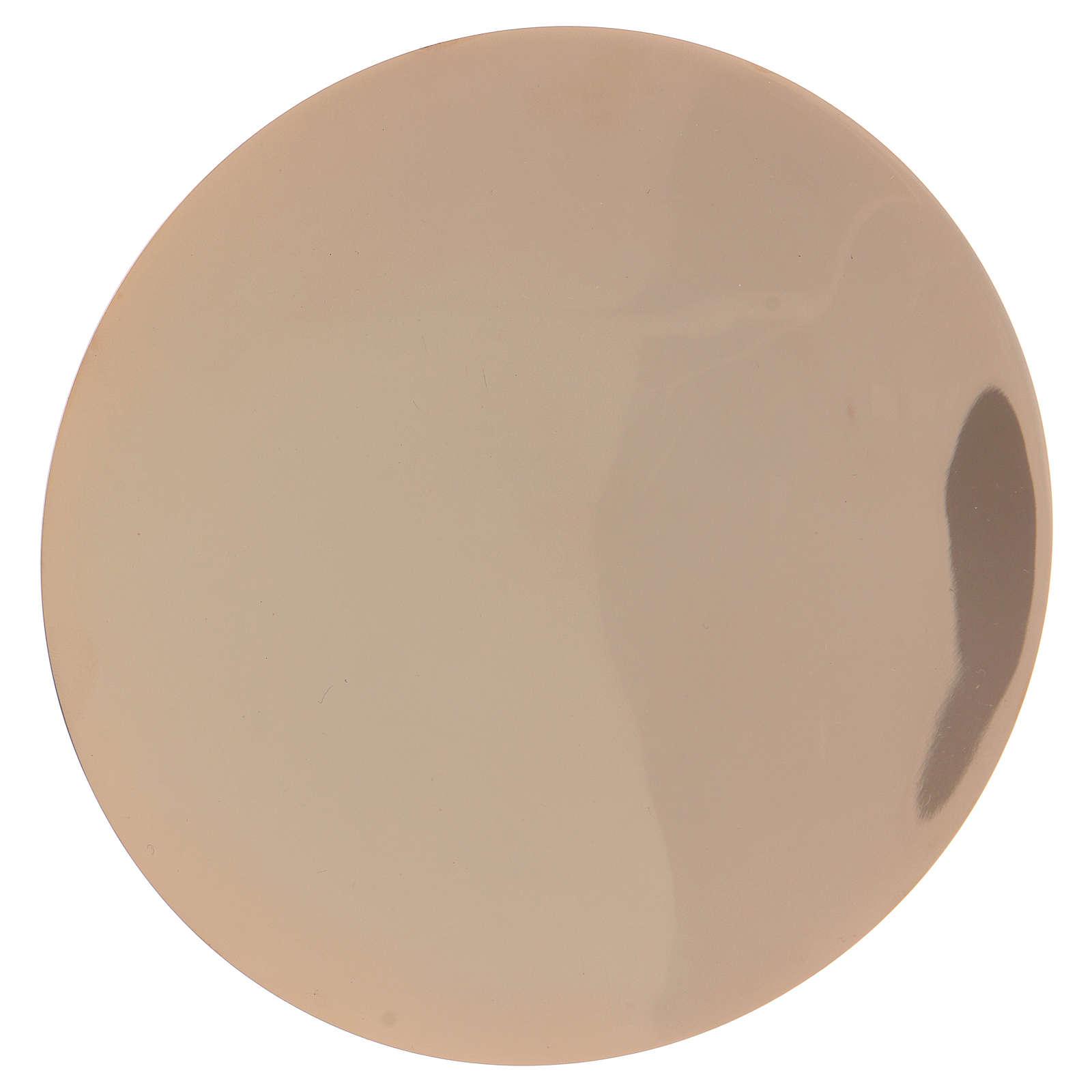 Calice decorato e patena ottone dorato 4