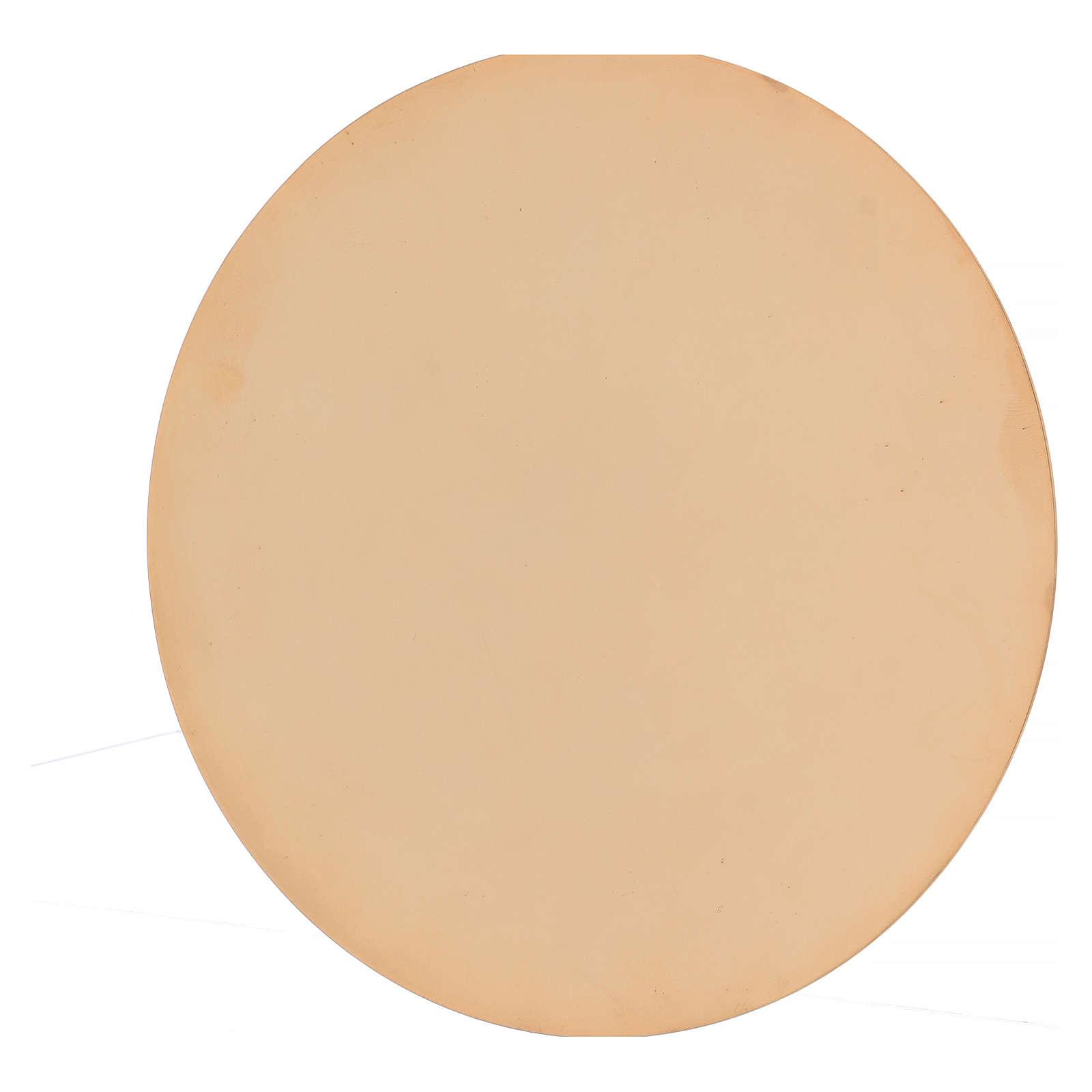 Calice e patena decoro martellato ottone dorato 16 cm 4