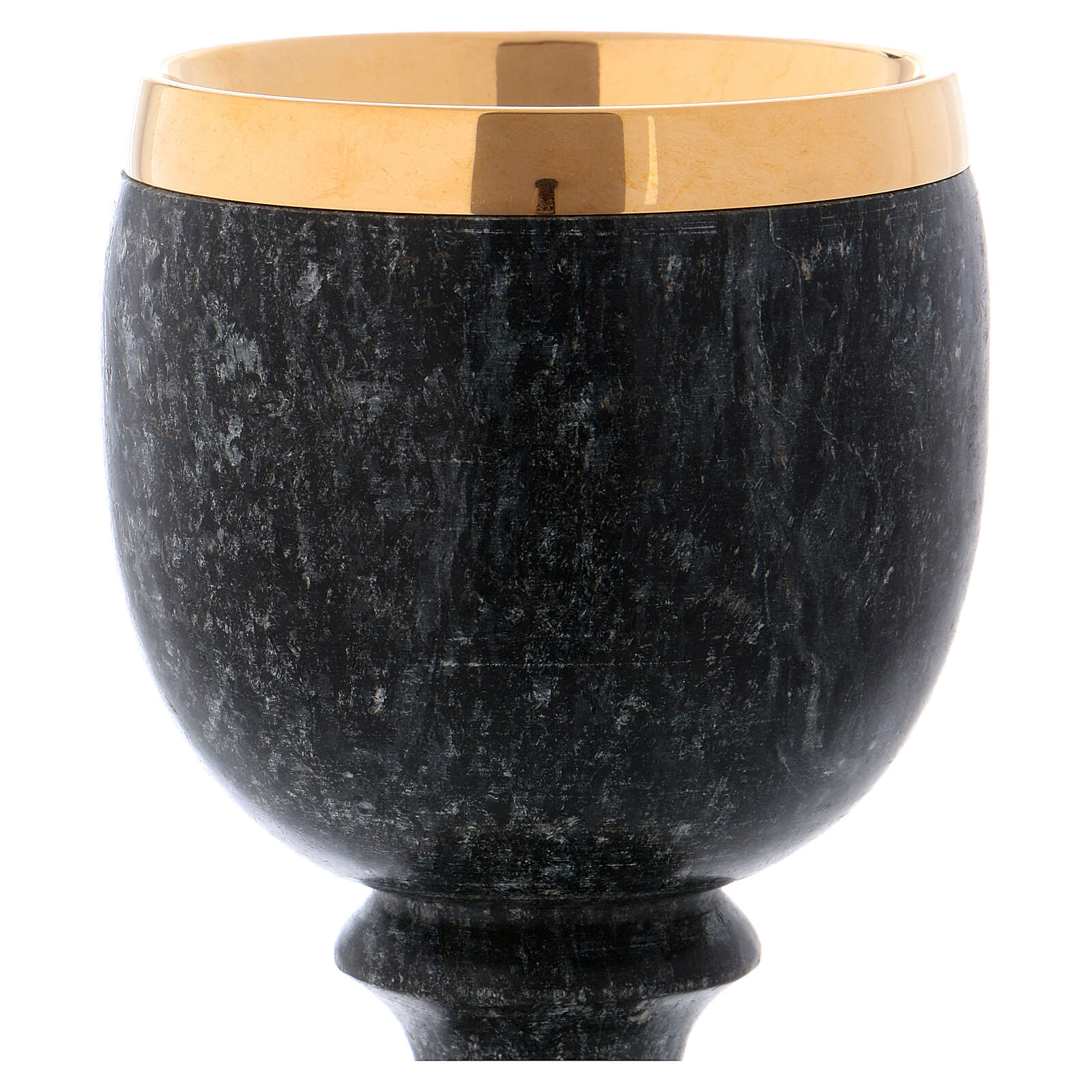 Chalice in black soapstone 4