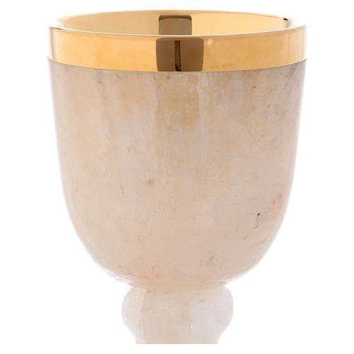 Calice en cristal de roche coupe argent 925 2