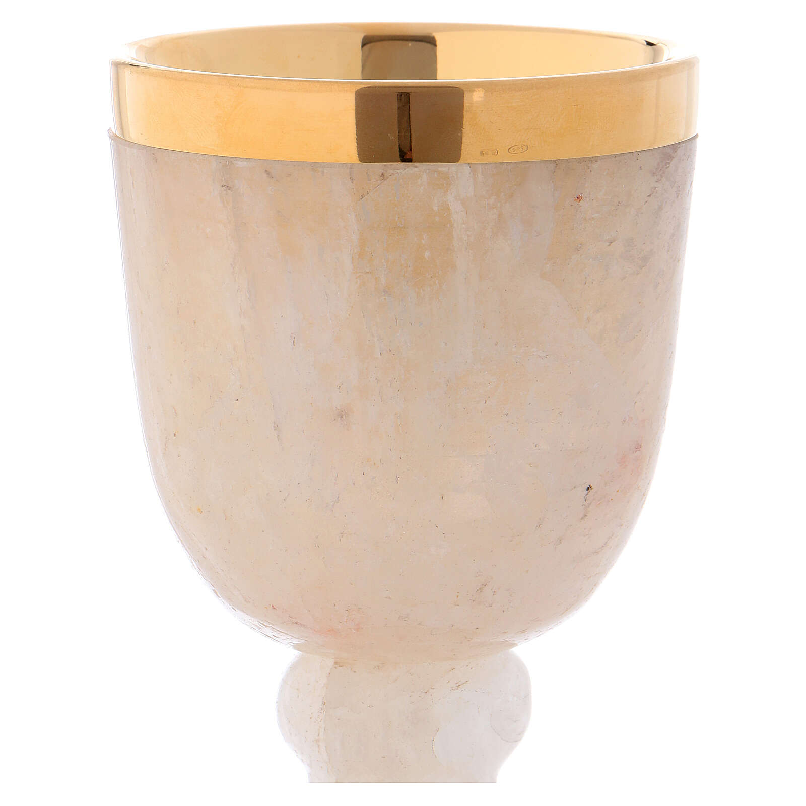 Communion chalice in rock crystal with 925 silver cup 4