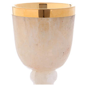 Communion chalice in rock crystal with 925 silver cup s2
