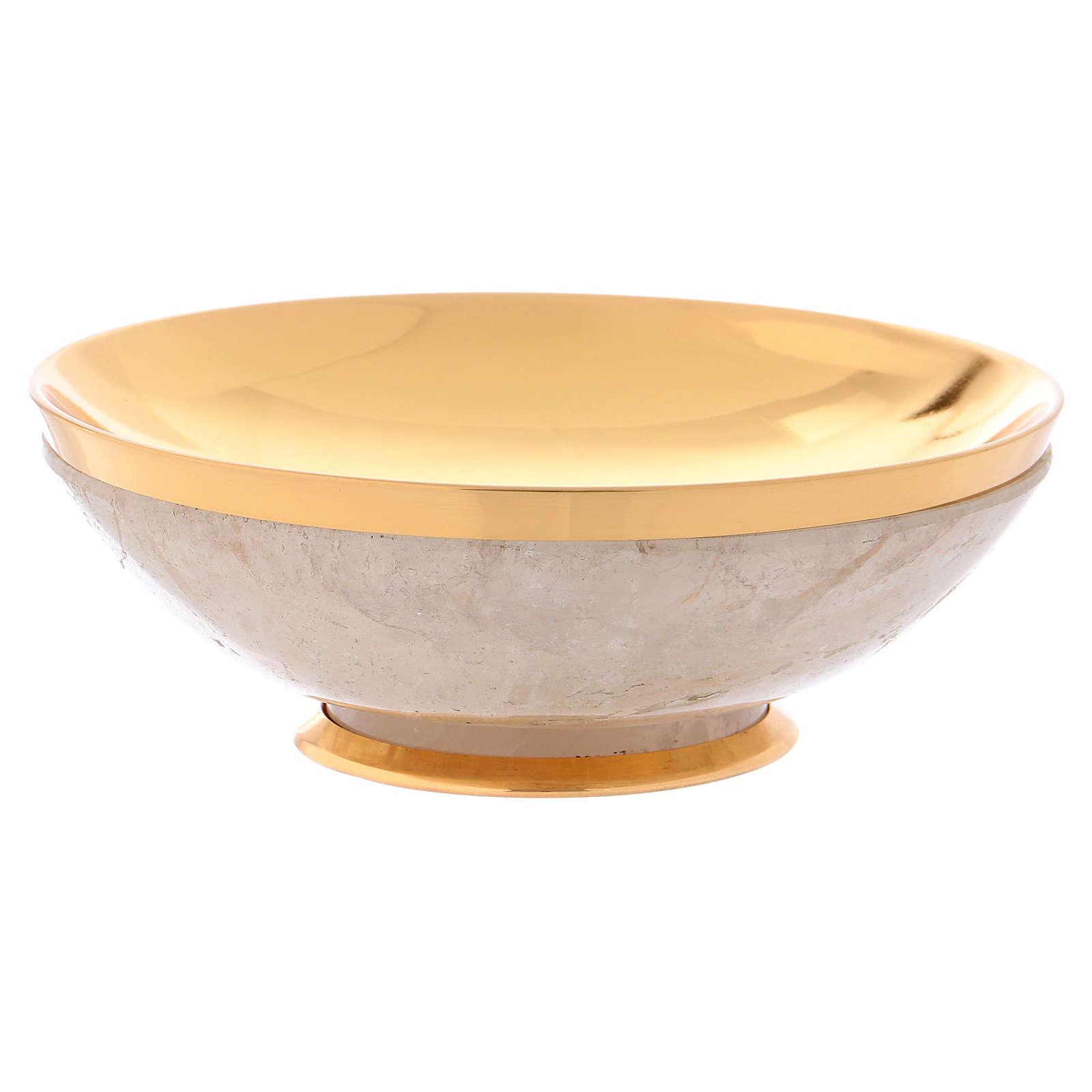 Patena in cristallo di rocca coppa argento 925 4