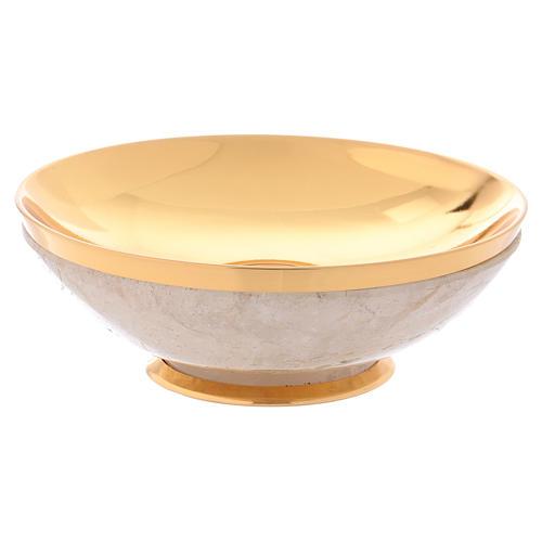 Patena in cristallo di rocca coppa argento 925 2