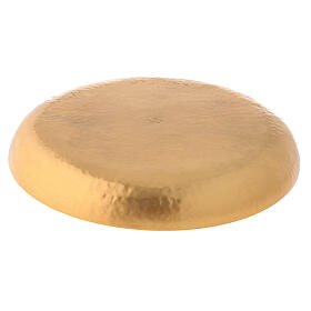 Patena ottone dorato 24 carati cesellata artigianalmente s3