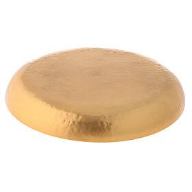 Patena latão dourado 24k cinzeladura artesanal s3