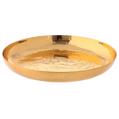Paten in 24 carat gilded brass chiseled by hand 1
