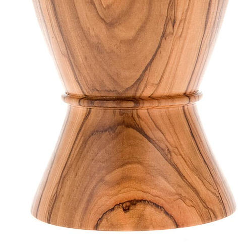 Calice olivo bordo risvoltato incisione pellicano diam 9 cm 5