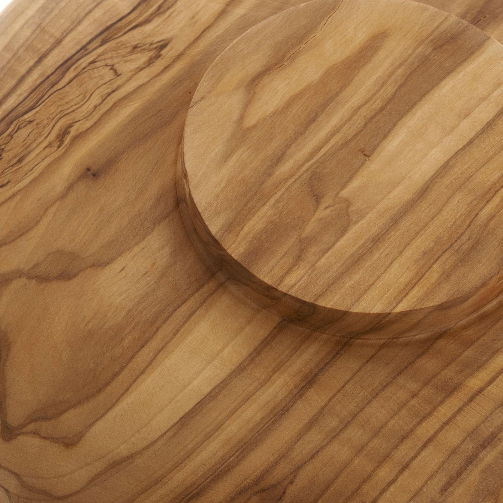 Patène en bois d'olivier 18 cm 4