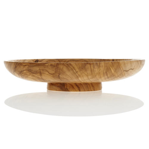 Paten in olive wood, 18cm diameter 2