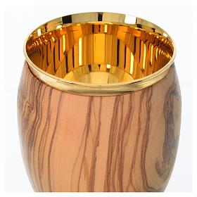 Cáliz de madera estacionada de olivo de Asís 16cm s3