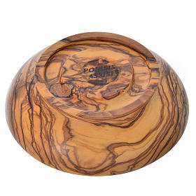 Patena de madera estacionada de olivo de Asís diámetro 14.5cm s3