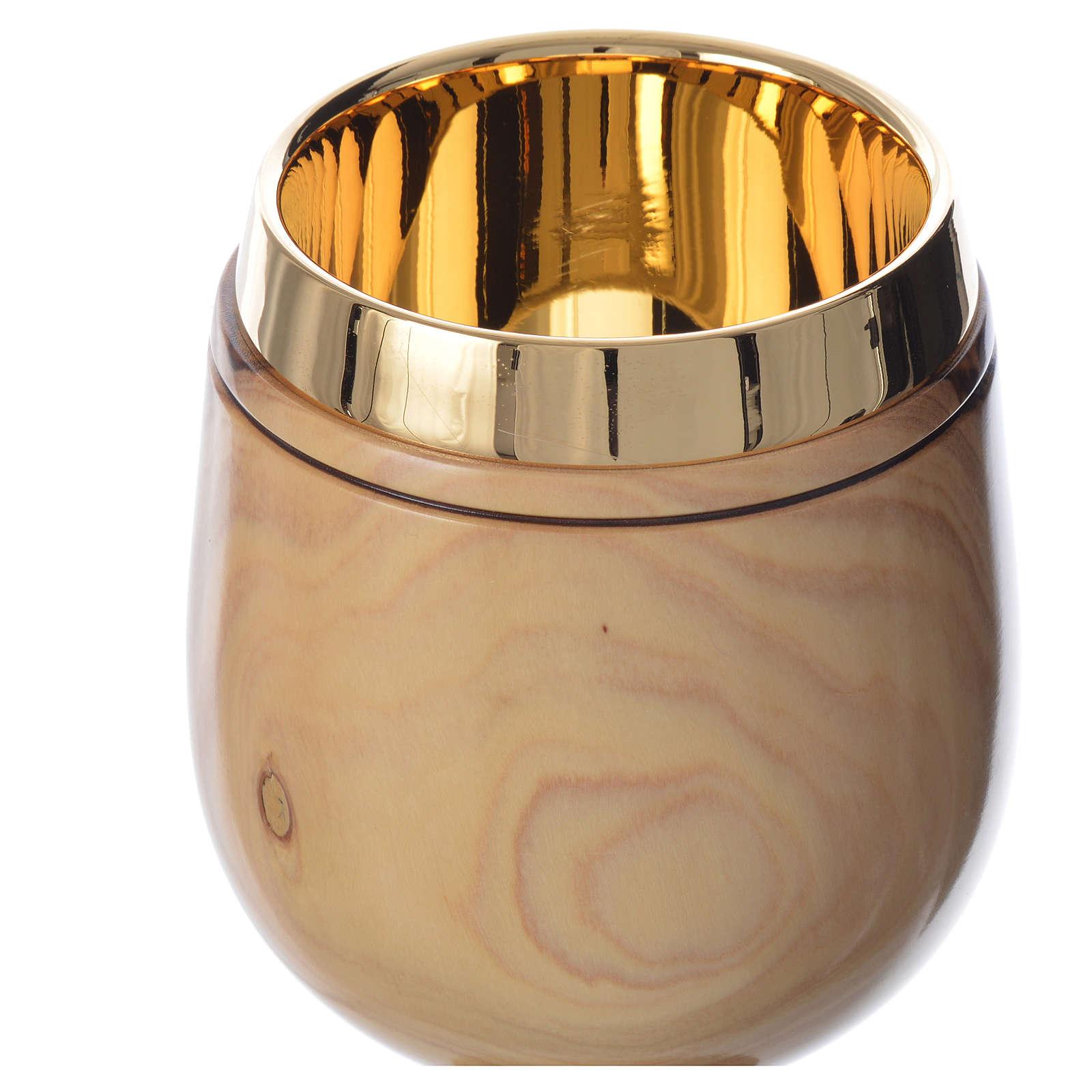 Calice olivier Terre Sainte h 18 cm 4