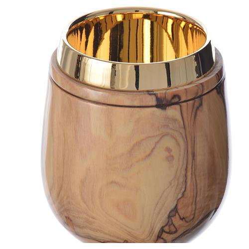 Kielich drewno oliwne z Ziemi Świętej h 21 cm 3