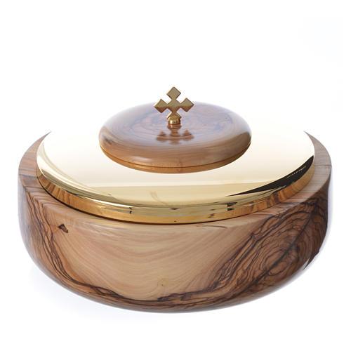 Ciborium olive wood Holy Land 1