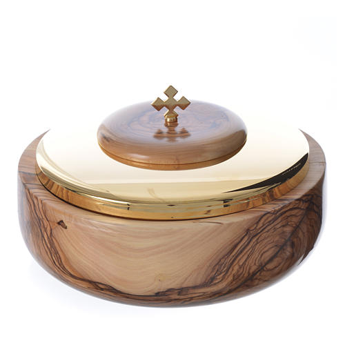 Ciborium olive wood Holy Land 1