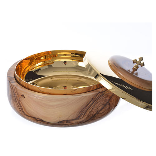 Ciborium olive wood Holy Land 2