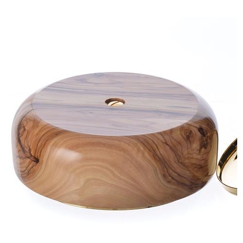 Ciborium olive wood Holy Land 3