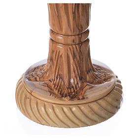 Cáliz de madera de olivo tallado Tierra Santa Última Cena s4