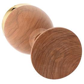 Calice legno olivo stagionato Assisi liscio altezza 20 cm s3