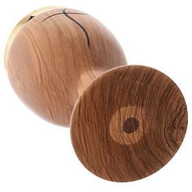 Cálice madeira oliveira sazonada Assis cruz estilizada s3