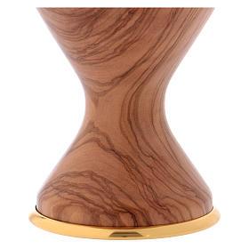 Calice in ulivo con coppa in metallo s3