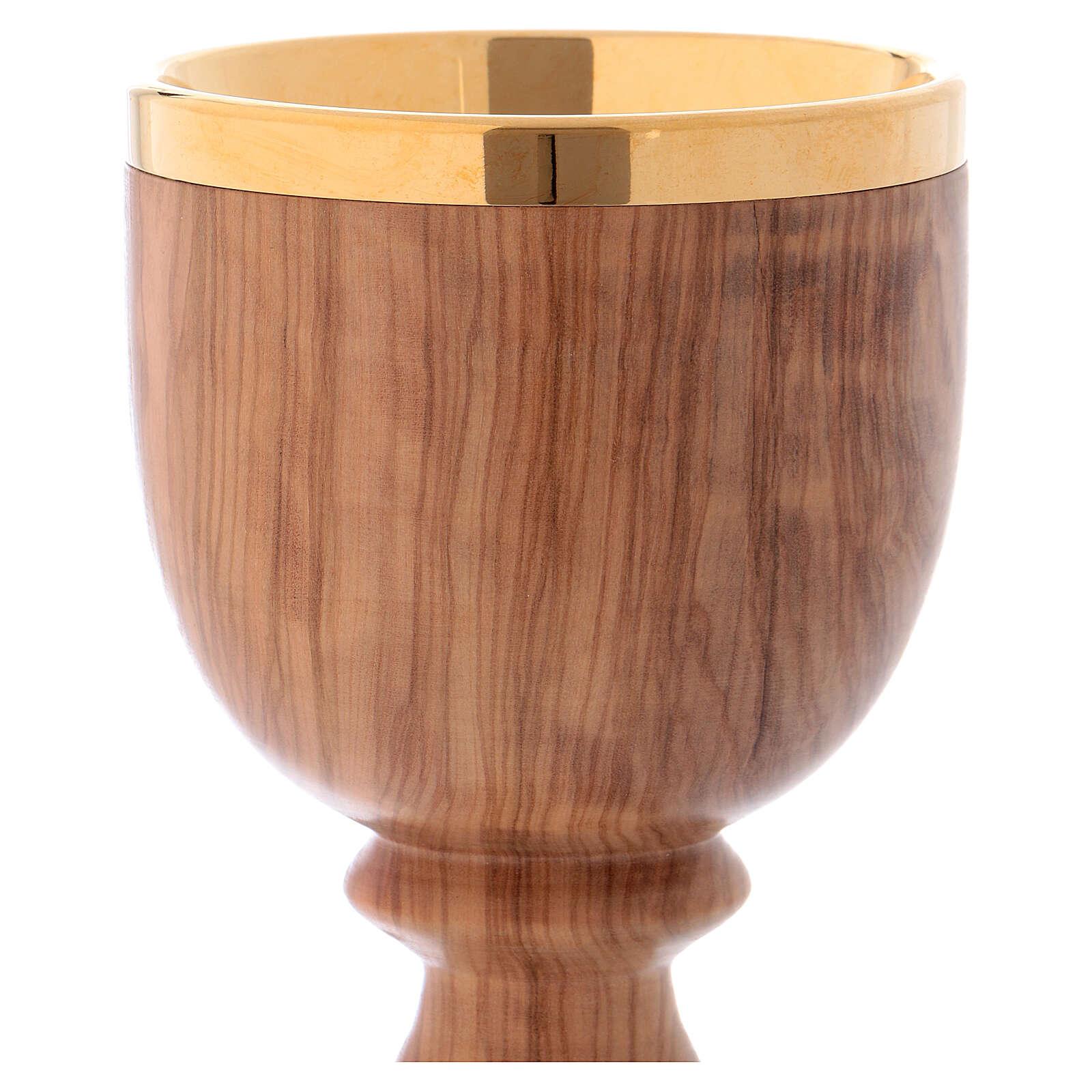 Chalice in Italian olive wood 4