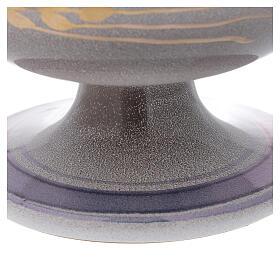 STOCK Patena cerámica perla latón dorado motivo espiga dorada diám 15 cm s3