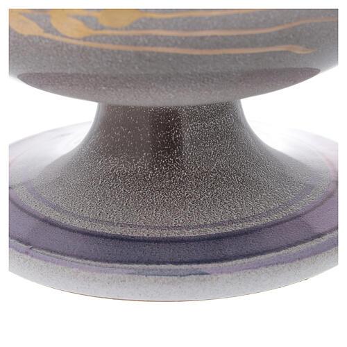 STOCK Patène céramique nacre laiton doré décoration épi doré diam. 15 cm 3