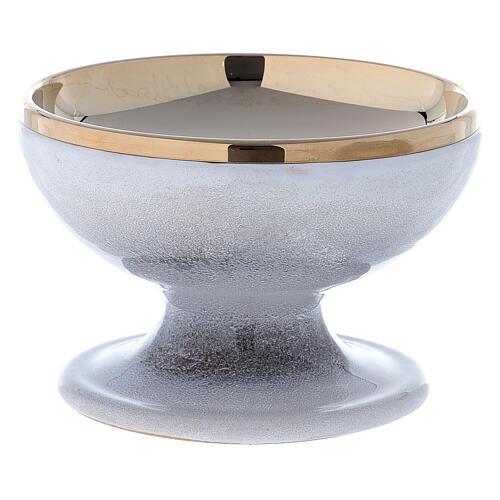 STOCK Patène céramique nacre laiton doré décoration épi doré diam. 15 cm 2