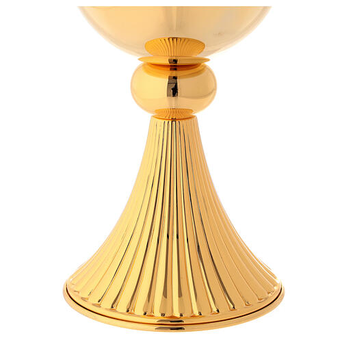 Pyx in 23.5 k golden brass with tapering and smooth knot 4