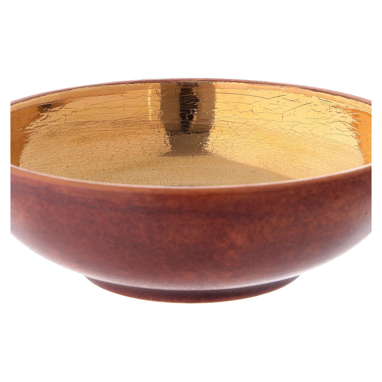 STOCK Patène couleur cuir laiton doré 16 cm 4