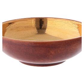 STOCK Patène couleur cuir laiton doré 16 cm s2