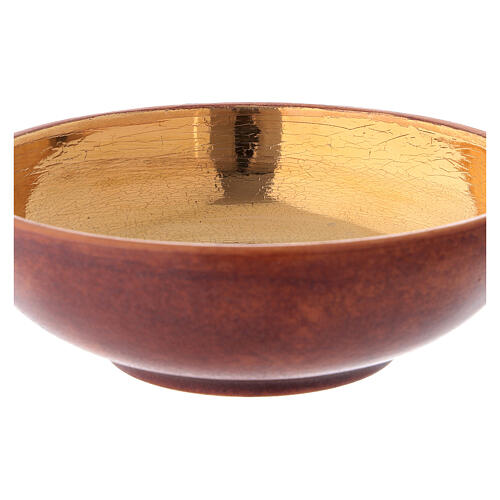 STOCK Patène couleur cuir laiton doré 16 cm 2