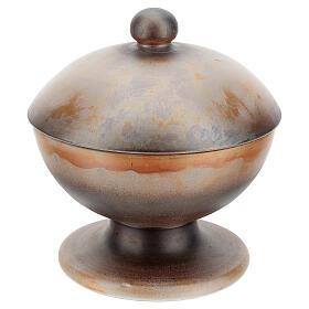 STOCK Pisside due specie ceramica Pompei 16 cm s5