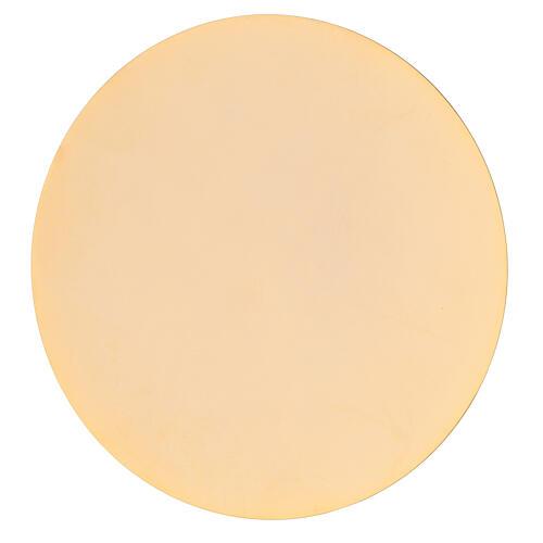 Goblet and paten in golden brass 19 cm 3