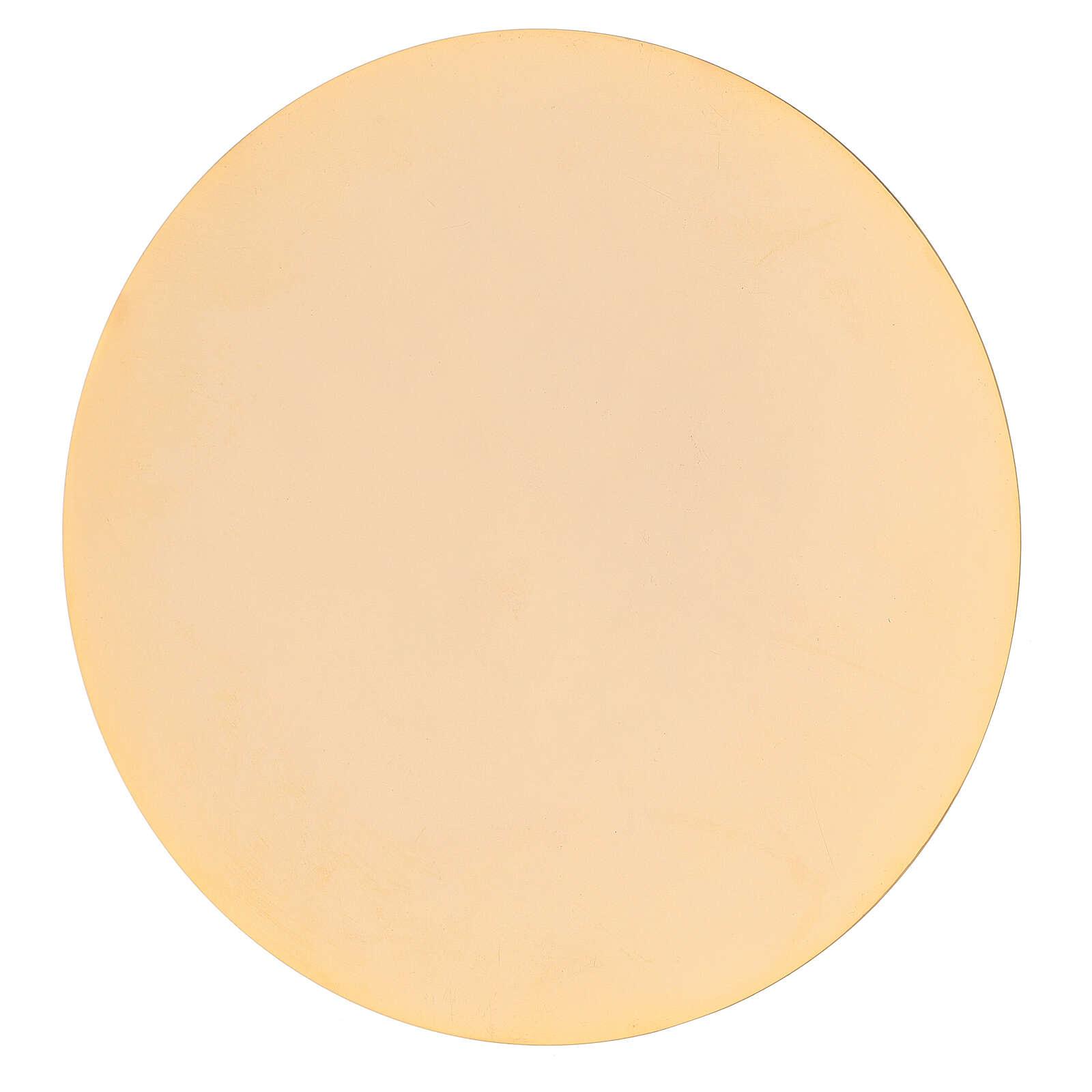 Cáliz y patena latón dorado 19 cm 4