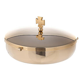 Communion bowl in gold plated brass s1