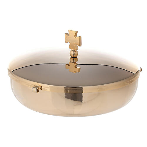 Communion bowl in gold plated brass 1